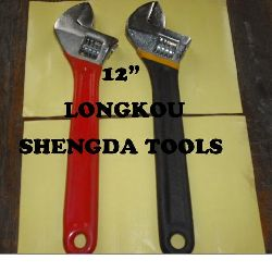 PVC dipped handle adjustable wrench