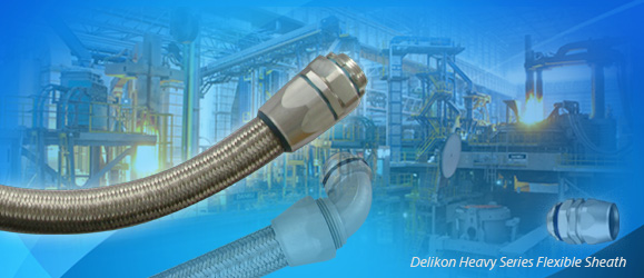 [CN] cable protection Delikon Heavy Series Flexible Sheath Over Braided Flexible Conduit and Fittings