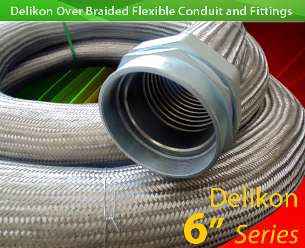 [CN] car industry automation EMI Shielding Heavy Series Over Braided Flexible Conduit Heavy Series Conduit fittings protect Industry 4.0 and smart manufacturing